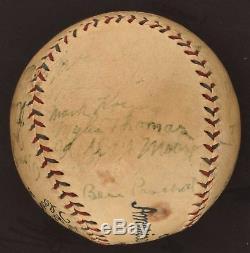 1927 NY Yankees WS Champs Team Signed Baseball Babe Ruth Lou Gehrig PSA DNA COA