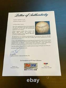 1927 New York Yankees Team Signed Baseball Babe Ruth & Lou Gehrig PSA DNA COA
