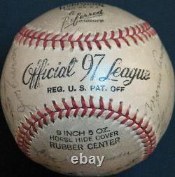 1940 Cincinnati Reds World Series Champions Team Signed Baseball PSA DNA COA