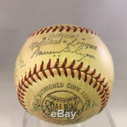 1953 St. Louis Cardinals Team Signed NL Baseball Stan Musial 24 Sigs PSA DNA COA
