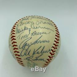 1956 All Star Game Team Signed Baseball Mickey Mantle Ted Williams PSA DNA COA