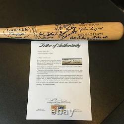 1957 Milwaukee Braves World Series Champs Team Signed Bat Hank Aaron PSA DNA COA
