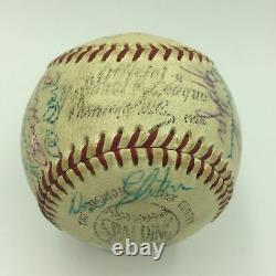 1958 Chicago Cubs Team Signed Game Used NL Baseball Ernie Banks PSA DNA COA