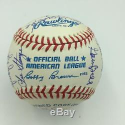 1967 Boston Red Sox AL Champs Team Signed Baseball Carl Yastrzemski PSA DNA COA