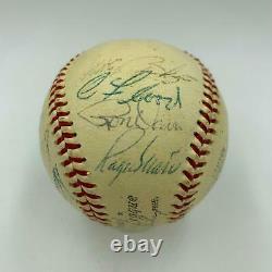 1968 St. Louis Cardinals NL Champs Team Signed Baseball Roger Maris PSA DNA COA