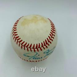 1970's Willie Mays Signed Vintage National League Feeney Baseball PSA DNA COA
