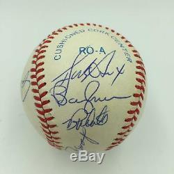 1977 New York Yankees World Series Champs Team Signed AL Baseball PSA DNA COA