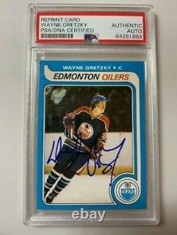 1979-80 Wayne Gretzky O-pee-chee Rc Reprint Autographed Psa/dna Coa