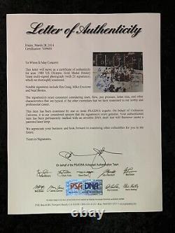 1980 USA Hockey Miracle On Ice Team 20 Signatures Signed 16x20 Photo PSA DNA COA