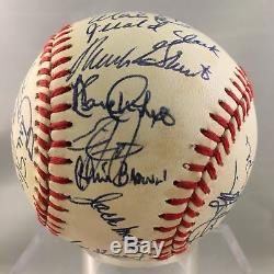 1988 San Diego Padres Team Signed Baseball Tony Gwynn Roberto Alomar PSA DNA COA