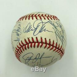 1989 New York Mets Team Signed NL Baseball Gary Carter PSA DNA COA