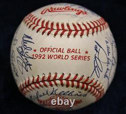 1992 Atlanta Braves Nl Champions Team Signed Baseball 30 Auto 92 Psa/dna Coa
