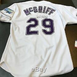 1998 Fred McGriff Signed Game Used Tampa Bay Devil Rays Jersey PSA DNA COA