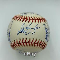 2001 Chicago Cubs Team Signed Baseball 27 Sigs Sammy Sosa With PSA DNA COA