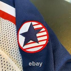 2002 Team USA Olympics Hockey Team Signed Authentic Nike Jersey PSA DNA COA