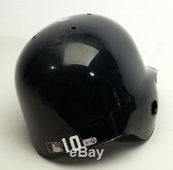 2010 Chipper Jones Game Used Atlanta Braves Helmet PSA DNA COA Photo Matched