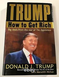 45th President Donald Trump Signed How To Get Rich Hardback Book PSA/DNA COA LOA