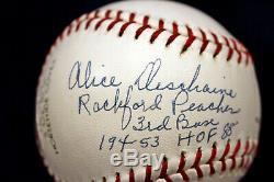 A League Of Their Own Aagpbl Rockford Peaches 4 Auto Signed Baseball Psa/dna Coa