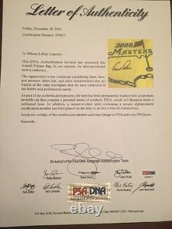 ARNOLD PALMER Signed Masters Flag FRAMED PSA DNA Authenticated COA