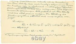 Albert Einstein United Field Theory Manuscript COA(PSA/DNA) RR Auction