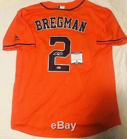 Alex Bregman Signed Houston Astros Jersey World Series Champs Auto+psa/dna Coa