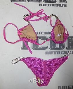 Angelina Love 2x Signed TNA Knockout Photo Shoot Bikini PSA/DNA COA Ring Worn