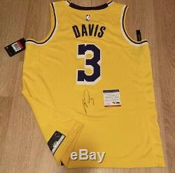 Anthony Davis Signed Autograph Auto Lakers Authentic Swingman Jersey Psa Dna Coa