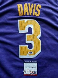 Anthony Davis Signed Los Angeles Lakers Jersey with PSA/DNA COA NBA Autographed