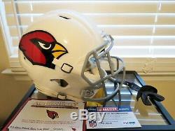 Arizona Cardinals Game Used helmet Chris Hubert 2016 NFL AUCTIONS PSA/DNA COA