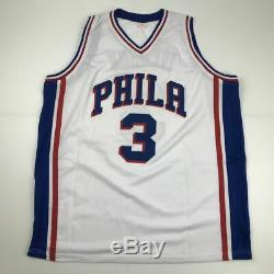 Autographed/Signed ALLEN IVERSON Philadelphia White Current Jersey PSA/DNA COA