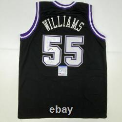 Autographed/Signed JASON WILLIAMS Sacramento Black Basketball Jersey PSA/DNA COA
