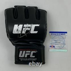Autographed/Signed KAMARU USMAN UFC MMA Black Fighting Glove PSA/DNA COA Auto