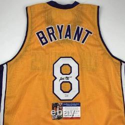 Autographed/Signed KOBE BRYANT #8 Los Angeles LA Yellow Jersey PSA/DNA COA Auto