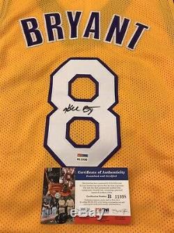 Autographed Signed KOBE BRYANT #8 Los Angeles LA Yellow Jersey PSA/DNA COA Auto