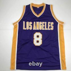 Autographed/Signed KOBE BRYANT Los Angeles Purple Basketball Jersey PSA/DNA COA