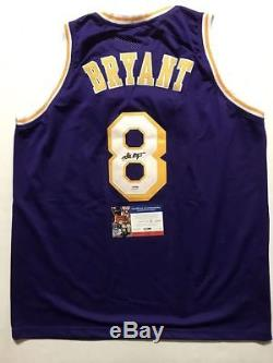 Autographed/Signed KOBE BRYANT Los Angeles Purple Jersey PSA/DNA COA Auto