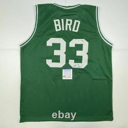 Autographed/Signed LARRY BIRD Boston Green Basketball Jersey PSA/DNA COA Auto