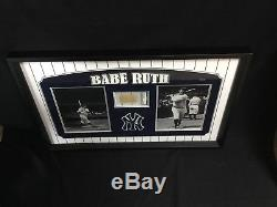 BABE RUTH Autograph Framed Cut With PSA/DNA COA