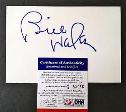 BILL WALSH Signed RARE 4x6 Big Bold BEST Auto 49ers HOF PSA/DNA COA Autograph