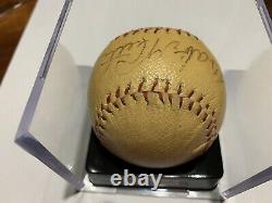Babe Ruth Single Signed Baseball With PSA DNA COA Bold Signature Autograph