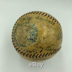 Babe Ruth & Tris Speaker 1926 Yankees Indians Team Signed Baseball PSA DNA COA