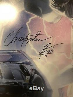 Back To The Future 2 Signed Poster 27x40 Christopher Lloyd PSA DNA Full COA BTTF