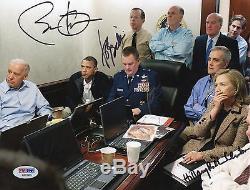 Barack Obama Joe Biden Hillary Rodham Clinton Signed Photo PSA DNA COA Autograph