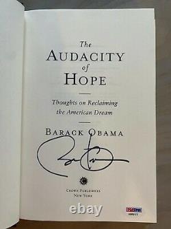 Barack Obama President Signed Autograph The Audacity of Hope Book PSA/DNA COA