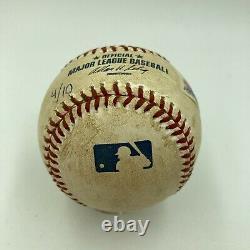 Barry Bonds 73rd Home Run Game Signed Game Used Baseball 10-01-2001 PSA DNA COA