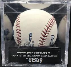 Barry Bonds Signed OMLB Baseball 10 PSA DNA COA Graded MINT + 9.5 Auto 9