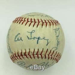 Beautiful 1957 Chicago White Sox Team Signed Baseball Nellie Fox PSA DNA COA