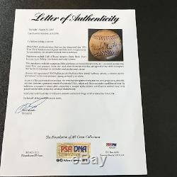 Beautiful Babe Ruth & Lou Gehrig 1934 Yankees Team Signed Baseball PSA DNA COA
