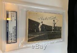 Beautiful Babe Ruth Signed 1934 Tour Of Japan Original Photo PSA DNA & JSA COA