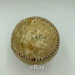 Beautiful Babe Ruth Single Signed Baseball With PSA DNA & JSA COA Bold Signature